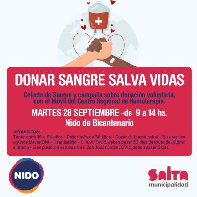 donación de sangre flyer